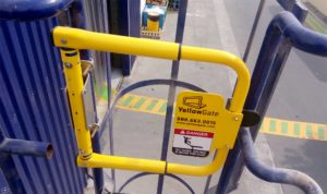 Yellowgate Swing Gate installed on caged ladder