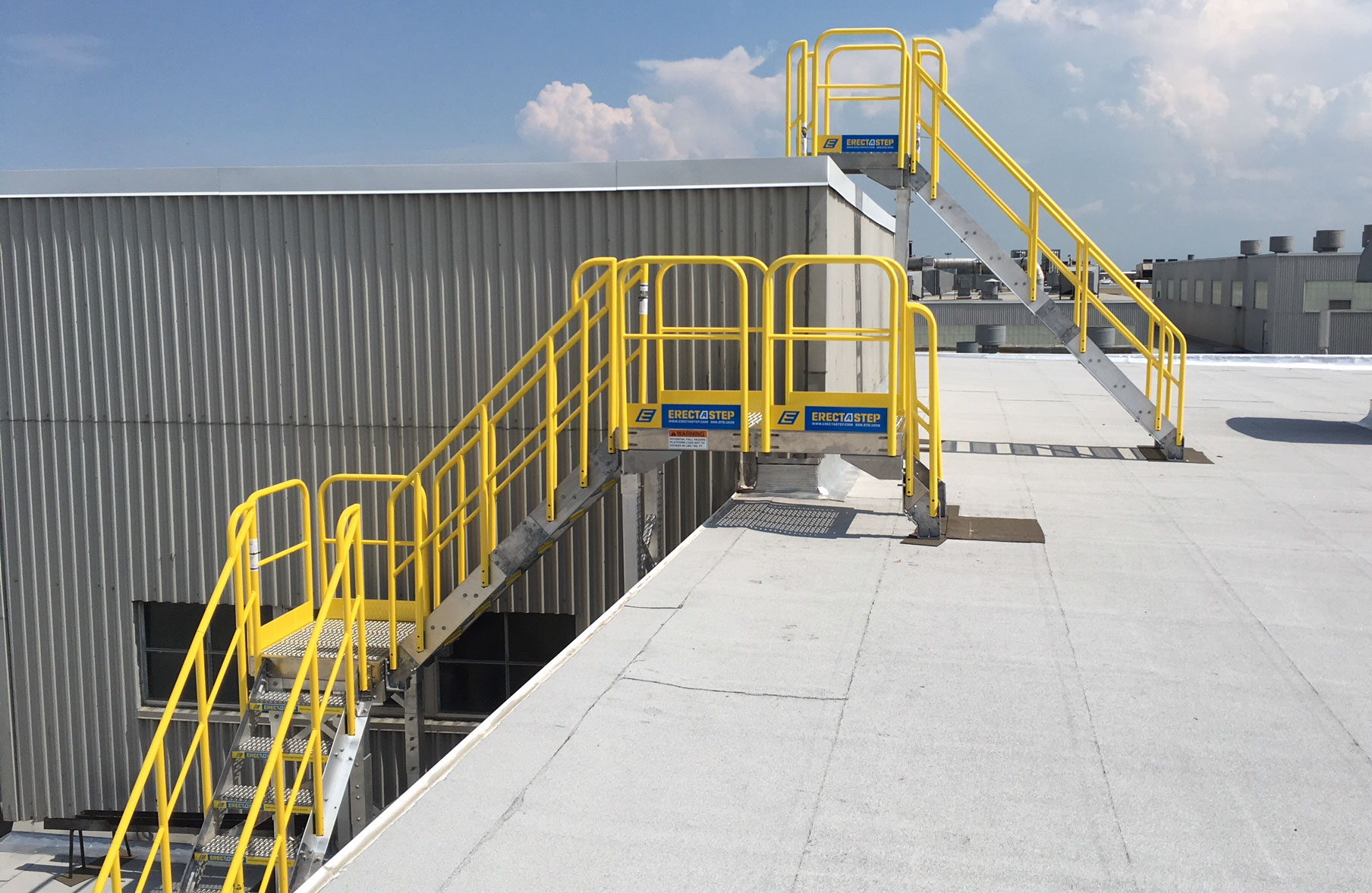 roof access stairs feature